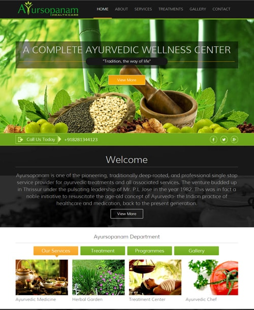 ayurveda responsive website template home page