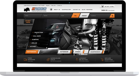 vehicle accessories magento template
