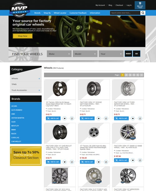wheels store magento template listing page